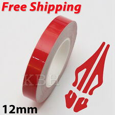 "12mm 1/2"" Pin Stripe Pinstriping Soild Line Tape Vinyl Decal Sticker Car Red"
