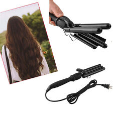3 Barrel Black Hair Curler Styler Curling Iron Tong Twister Styling Waver