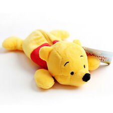 Winnie The Pooh Pencil Case Pen Pouch Bag Plush Doll Toy