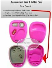 fab Pink case only  replacement shell for 15732803 Chevy button pad keyless FOB