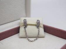 New w/Box Pandora Pave CZ Inspiration Chain Charm # 791736CZ-05 Protect Bracelet