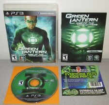 GREEN LANTERN Rise Of The Manhunter PlayStation 3 Complete w/Manual DC Comics