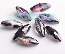 New 18mm Oval Faceted Crystal Findings Czech Glass Loose Spacer Beads 10/20pcs