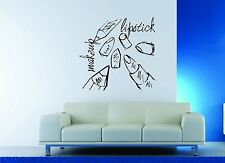 Wall Decor Vinyl Sticker Decal Fashion Girl Sexy Lipstick Makeup Salon