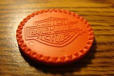1 Plastic Harley Davidson Motorcycles Live Free Ride Free Poker Chip  Red - New