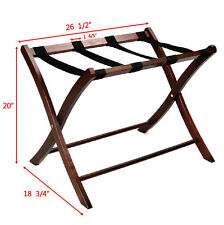 Folding Winsome Wood Luggage Rack Classic Hotel Suitcase Stand Passenger New