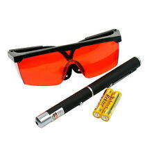 High Power 5mW Green Dot Laser Pointer and 532nm Tinted Laser Saftey Glasses