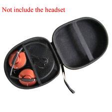 New Black Hard Shell Large Carrying Headphones Case / Headset Travel Bag New