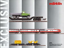Märklin Exclusiv 4 97 prospetto catalog MARKLIN MODEL RAILWAYS opuscolo 1997