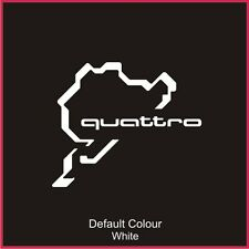 Nurburgring Quattro Race Circuit Decal, Track, Vinyl, Sticker, Graphics, N2027