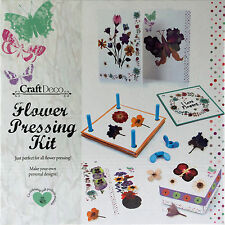 Flower Pressing Kit - Complete Set To Create Art, Crafts And Greetings Cards
