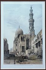 """David Roberts Lithograph """"Mosque of the Sultan Kaitbey, Cairo"""" Framed Plate 224"""