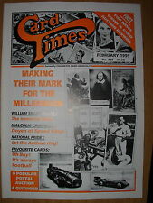 CARD TIMES MAGAZINE FORMERLY CIGARETTE CARD MONTHLY No 108 FEBRUARY 1999