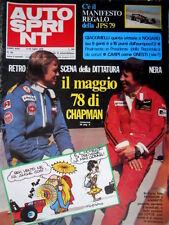 Autosprint 28 1978 Peterson, Andretti e la Lotus. Giacomelli 5° vittoria  SC.53