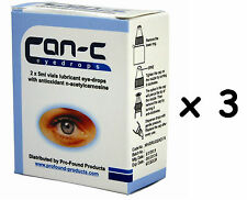 CAN-C Eye Drops for reducing, reversing and slowing cataracts 6 x 5ml Vials