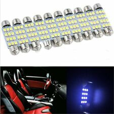 10 x 41mm 3528 12 SMD LED Car Interior Festoon Dome Bulb Lamp Light 12V White