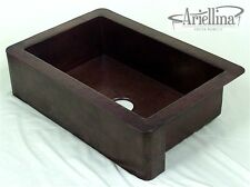 Ariellina Farmhouse 14 Gauge Copper Kitchen Sink Lifetime Warranty New AC1803