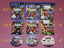 3x ps2 _ los Sims 2 & los Sims 2 varada & los Sims 2 mascotas _ primeras ediciones