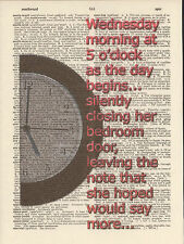Beatles She's Leaving Home Altered Art Print Upcycled Vintage Dictionary Page