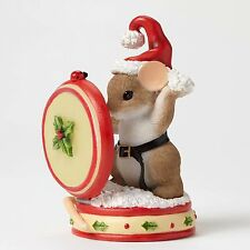Charming Tails Holly Jolly Style Mouse Figure Enesco 4046942 Christmas Holiday