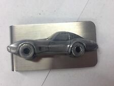 Chevrolet Corvette c1979 ref35 pewter effect car emblem on a stunning Money Clip