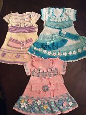 crochet pattern for spring dress, bolero and hat size12-24 months