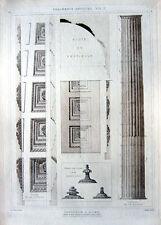 68 ~ ROME PANTHEON ~ 1905 Architecture Structure Design Column Detail Art Print