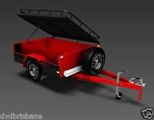 Trailer Plans on CD-Rom-OFFROAD CAMPER TRAILER PLANS-3 Sizes 7x4ft,6x4ft & 7x5ft
