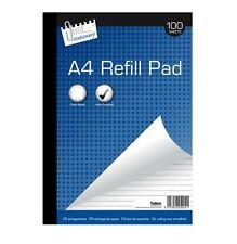 A4 REFILL PAD 100 SHEETS RULE LINED WRITING HOLE-PUNCHED PAPER RULED MARGIN 5004