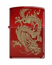 "Zippo ""Oriental Dragon"" Candy Apple Red Finish Lighter, 8894"