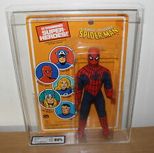 "VINTAGE ORIGINAL RARE MEGO UK 80 GRADED CARDED SPIDERMAN 8"" FIGURE SUPERB LOOK"