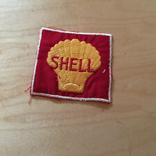 "shell   patch,60's,new old stock,  red  backround, 2.75""x2.75"""