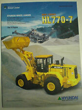HYUNDAI WHEEL LOADER HL 770 - 7 TIER II ENGINE SALES BROCHURE PROSPEKT ENGLISCH