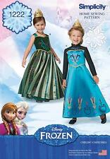 SIMPLICITY SEWING PATTERN Frozen Coronation Day Costumes for Children 3-8 1222
