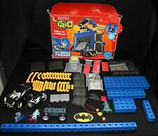 Fisher Price Trio DC Super Friends Batcave Bat Cave Batman Lot 104pcs Incomplete