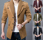 British Style Men's Winter Jacket Luxury Sexy Slim Fit Coats New Casual Outwear