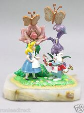 A/P DISNEY ALICE IN WONDERLAND WITH WHITE RABBIT FIGURINE DIRECT FROM  RON LEE