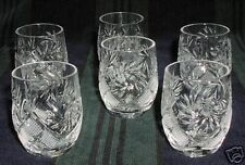 6 Russian Crystal Shotglasses Glasses. 1.7oz (50 ml). Vodka Wiskey #3