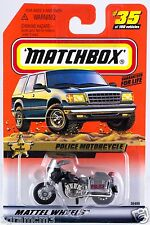 Matchbox MB 35 Police Motorcycle Mint On Card 1999