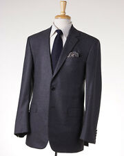 New $4495 OXXFORD HIGHEST QUALITY Charcoal Gray Soft Flannel Wool Suit 40 R
