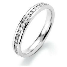 2mm Special offer! Round Diamond Channel Set  Half Eternity Ring in 950 Platinum