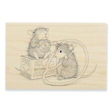 HOUSE MOUSE RUBBER STAMPS NURSE MOUSE NEW WOOD STAMP