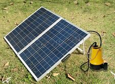 Solar Pump System W/ 120W Folding Solar Panel & DC 12V Water Pump for Watering