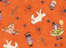 Fat Quarter Boppity Boo Orange Halloween Cotton Quilting Fabric- Red Rooster
