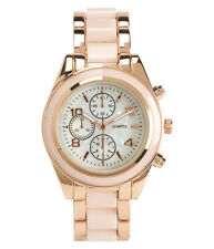 Aeropostale Enamel Polish Boyfriend Watch