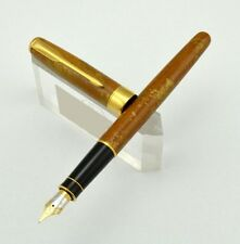 Parker Sonnet Chinese Laquer Amber Fountain Pen - 18k Gold Medium Nib NOS