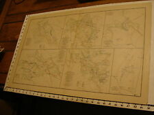 1890's Vintage CIVIL WAR MAP: with 5 from VA, 1 from Ga, all on 1