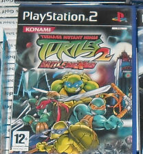 1 GIOCO PLAYSTATION PS 2 RETRO GAME-TARTARUGHE TEENAGE NINJA TURTLES BATTLENEXUS