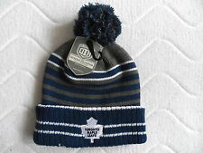 VINTAGE TORONTO MAPLE LEAFS OLD TIME HOCKEY CHUNKY BEANIE BOBBLE TUQUE Hat NHL