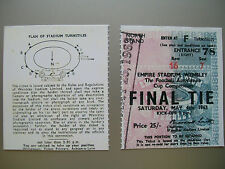 1963 F.A. Cup Final Ticket Manchester United v leicester City Mint condition.